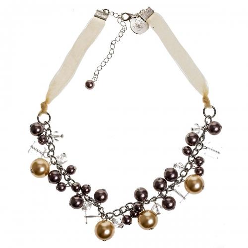 Nicky Vankets Multi Pearl Beaded Bib Necklace