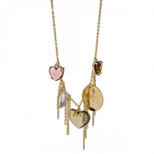 Nicky Vankets Multi Heart Necklace