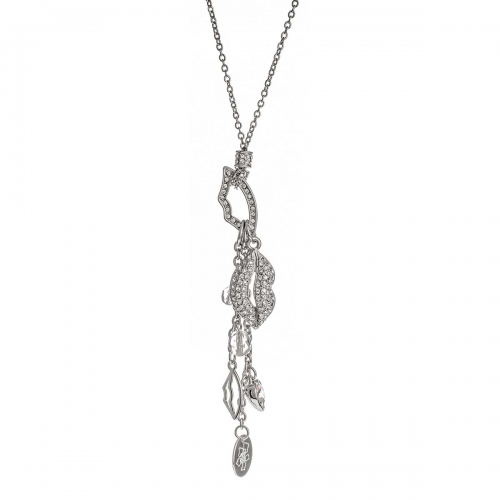 Nicky Vankets Silver Lips Necklace