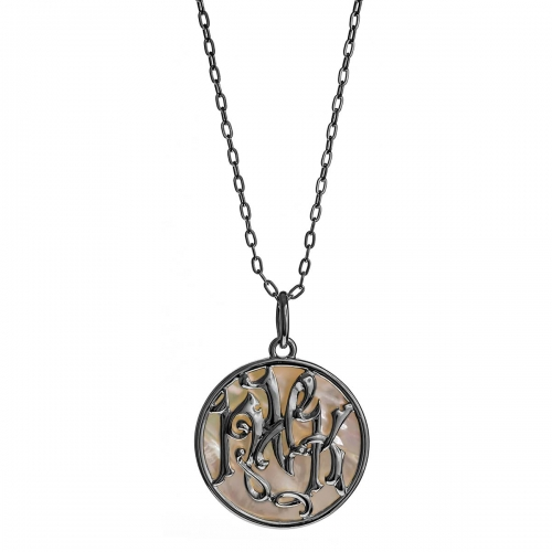 Nicky Vankets Pearlescent Disc Pendant Necklace