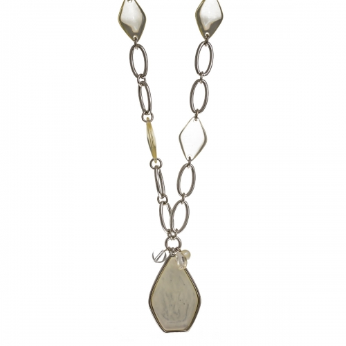 Nicky Vankets White Stone Necklace