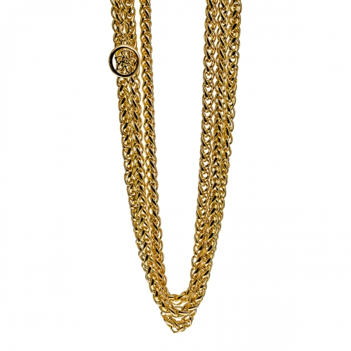 Nicky Vanket Gold Multi Chain Necklace