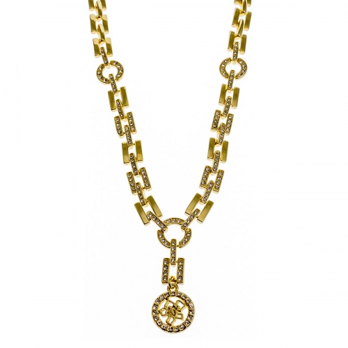 Nicky Vankets Gold Art Deco Style Necklace