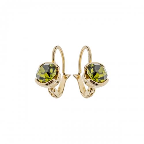 Nicky Vankets Green Stone Latch Back Earrings