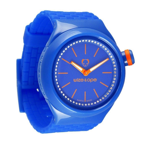Wize and Ope Club  Bright Blue Shuttle Watch SH-CL-9S