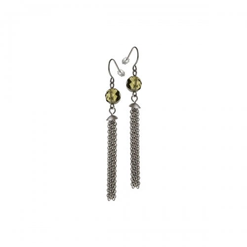 Nicky Vankets Silver Tassel Drop Earrings