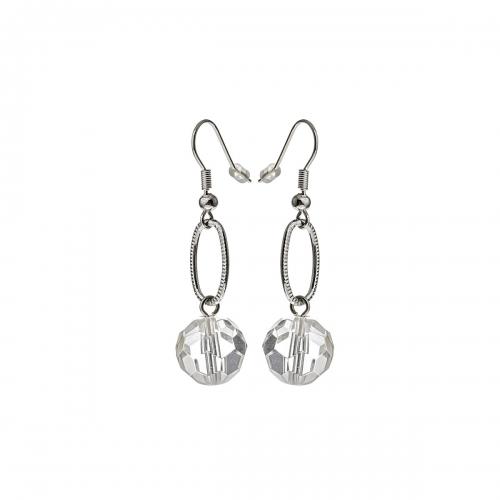 Nicky Vankets Silver Open Link Drop Earrings