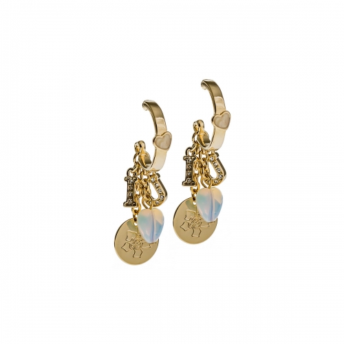 Nicky Vankets I Love You Gold Dangle Earrings