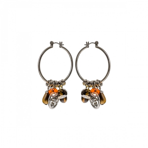 Nicky Vanket Hoop Dangle Earrings