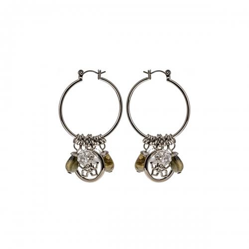 Nicky Vanket Hoop Dangle Earrings