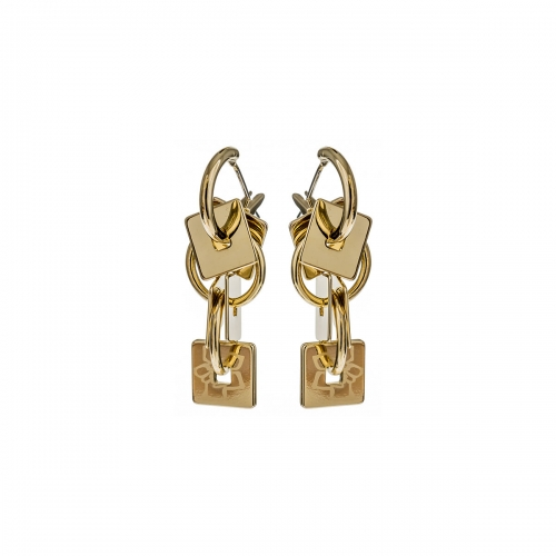 Nicky Vankets Gold Square Drop Earrings