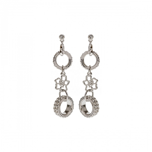 Nicky Vankets Silver and CZ Drop Earrings