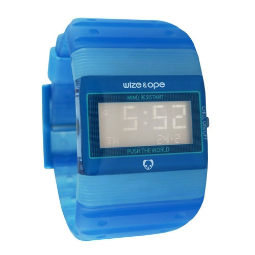 Wize and Ope Seventy Seven  Blue Digital  Watch WO-77-9