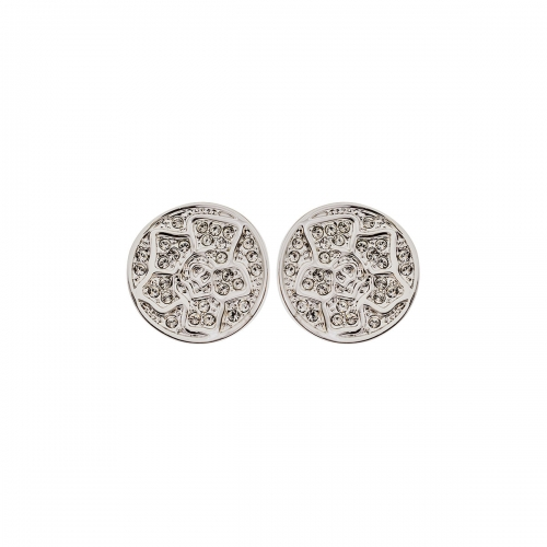 Nicky Vankets Silver Logo Stud Earrings
