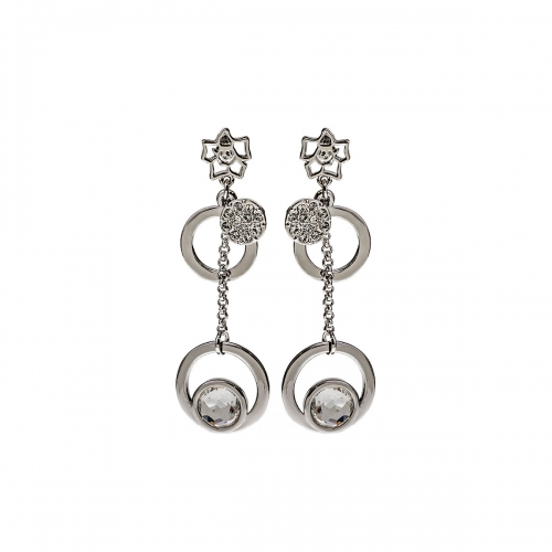 Nicky Vankets Silver Disc Drop Earrings
