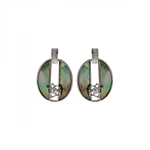 Nicky Vankets Grey Drop Earrings