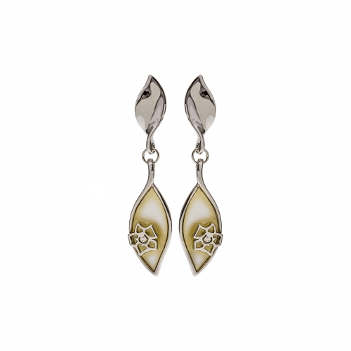 Nicky Vankets Leaf Drop Earrings