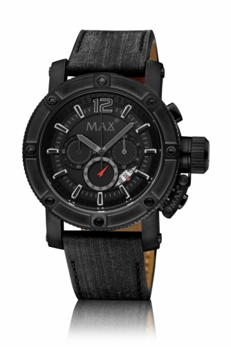 Max Chronograph Watch 47MM IPB Date 10ATM