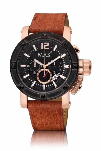 Max Chronograph Watch 47MM IPR+IPB Date 10ATM