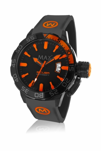 Max Scuba Watch 44MM IPB Orange/Black 20ATM