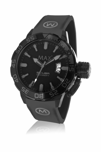 Max Scuba Watch 44MM IPB Grey/Black 20ATM