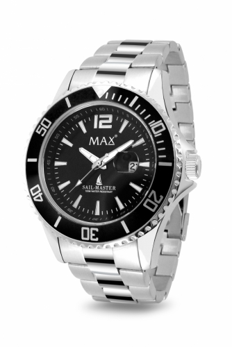 Max Sail Master Silver & Black Watch