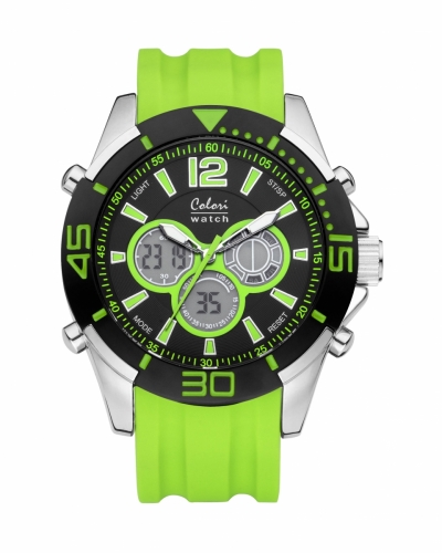 Colori Anadigi Watch 47 IPS/Green