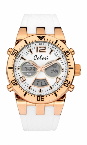 Colori Anadigi Watch 46 IPR/White Case 15MM