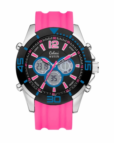 Colori Anadigi Watch 47 IPS/Blue/Pink