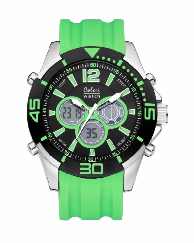 Colori Anadigi Watch 47 IPS/Mint Green