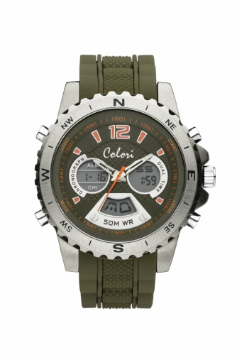 Colori Anadigi Watch 52 IPS Green Strap