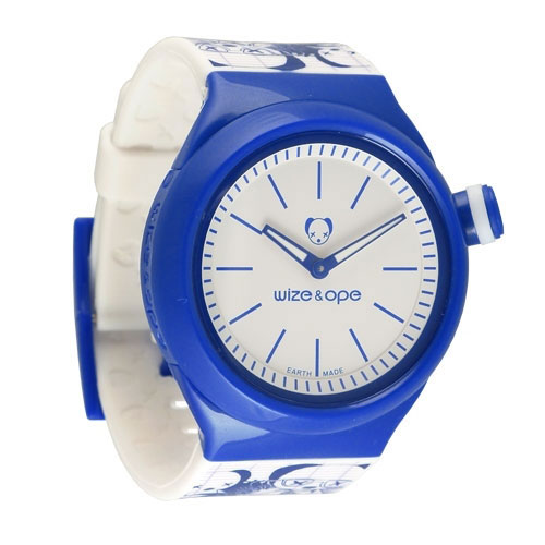 Wize and Ope Low-Rider White and Blue Shuttle Watch SH-LR-1