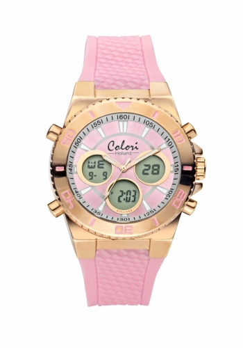 Colori Anadigi Watch 43 IPR/Pink