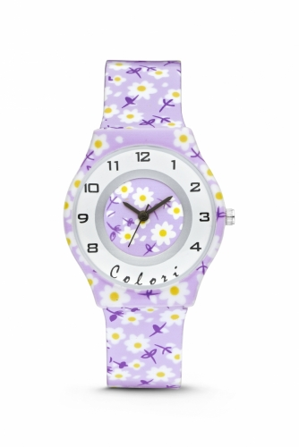Colori Kidswatch 34MM PurpleFlowers 3ATM