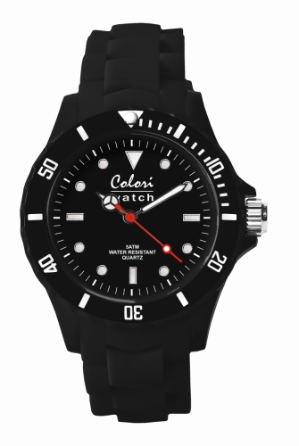 Colori Watch 40 Black with White Index 5ATM