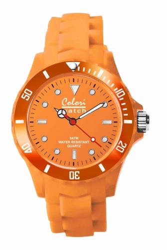Colori Watch 40 Orange w. White Index 5ATM