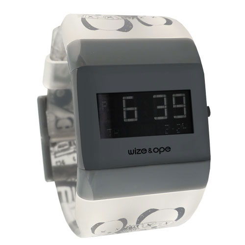 Wize and Ope Low-Rider  Grey and Blue Digital  Watch WO-LR-2