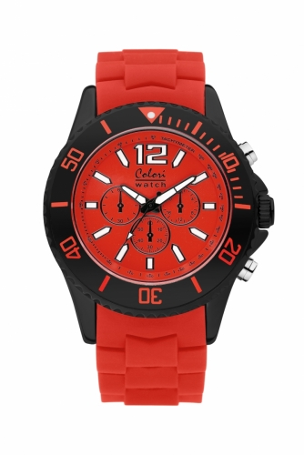 Colori Metal Watch 48 All Red Black Chronolook