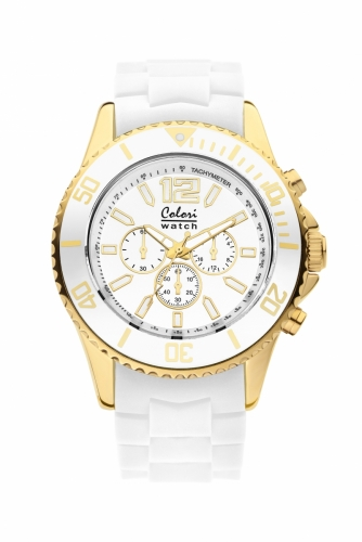 Colori Metal Watch 48 All White IPG Chronolook