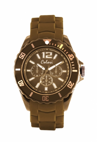 Colori Watch 44MM Camel/ Chronolook index 5ATM