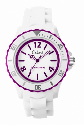 Colori Watch 44 White/Purple 5atm