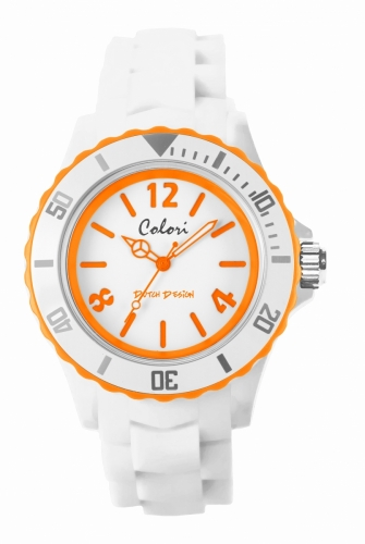Colori Watch 44 White/Orange 5atm
