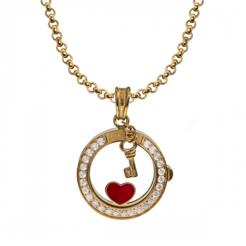 Key Moments Glowing Heart Gold Necklace Set