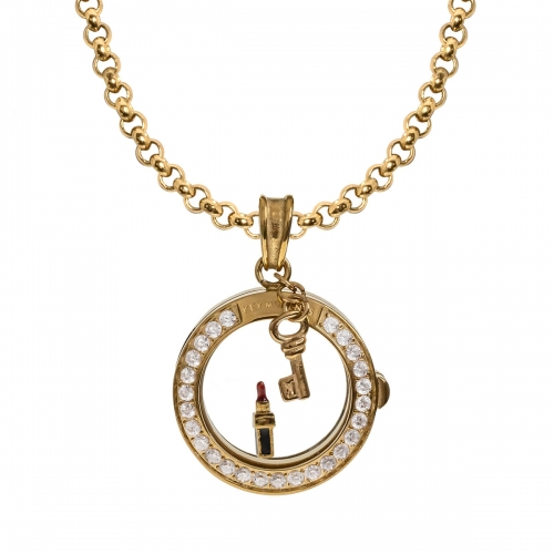Key Moments Lipstick Gold Necklace Set