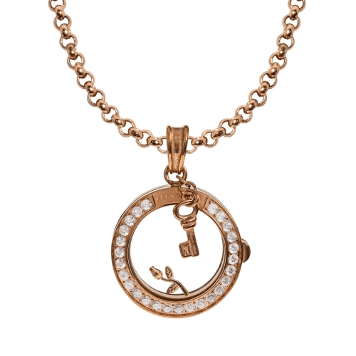 Key Moments Rose of Love Rose Gold Necklace Set