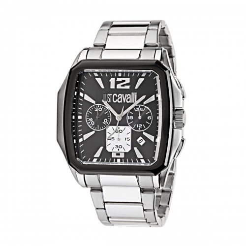 Just Cavalli Rider, Chrono, Black Dial and Stainless Steel Bracelet R7273173525-EXD