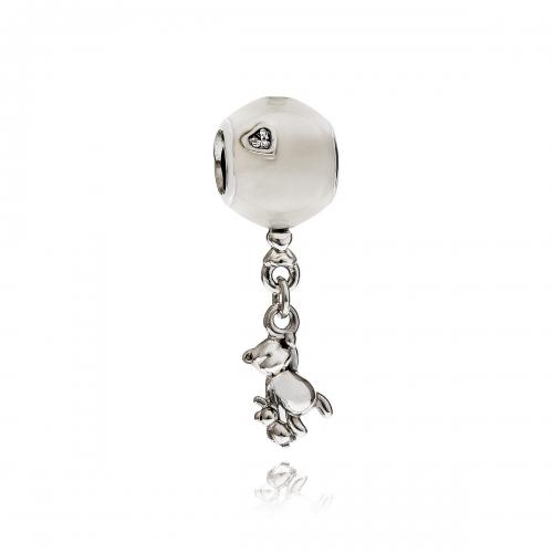 Pandora Teddy & Balloon Silver, CZ & Enamel Charm 797034EN23