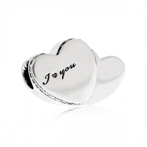 Pandora Two Hearts Silver & CZ Charm 796560CZ
