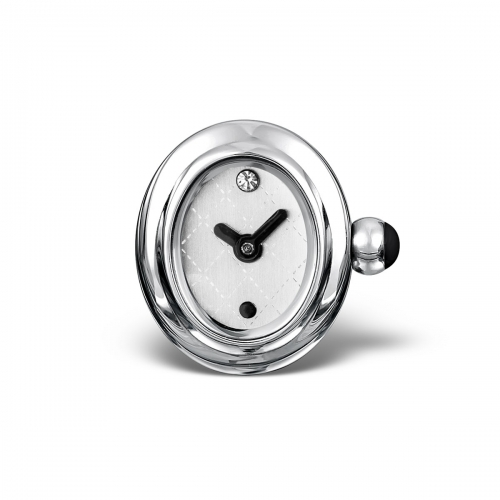 LIMITED SAMPLE: Timebeads White Oval Watch Charm With Clip Fastening