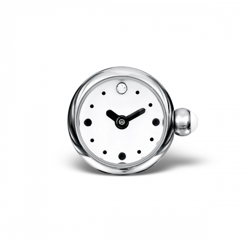 LIMITED SAMPLE: Timebeads White Round Watch Charm With Screw Fastening